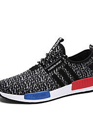 Men's Shoes Outdoor / Office & Career / Athletic / Casual Microfibre / Fabric Fashion Sneakers Black / Blue / White