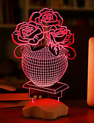 Visual 3D Ribbon Model Mood Atmosphere LED Decoration USB Table Lamp Colorful Gift Night Light(Assorted Color)