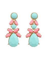 Earring Drop Earrings Jewelry Women Wedding / Party / Daily / Casual / Sports Alloy / Resin / Enamel 2pcs Gold