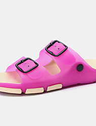 Women's Shoes Silicone Flat Heel Flip Flops / Slippers Slippers Outdoor/ Athletic/Dress/Casual Blue/Pink