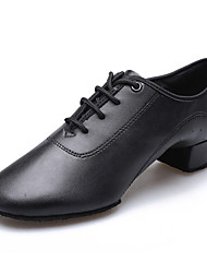Latin Kid's Dance Shoes Heels Chunky Heel Black