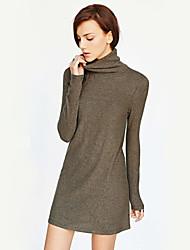 Extra long Aux femmes Manches Longues Simple Coton Opaque