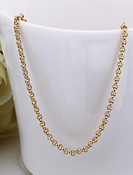 May Polly  18K gold plated color round lattice chain