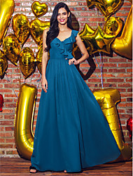 TS Couture® Prom  Formal Evening Dress A-line V-neck Ankle-length Georgette with