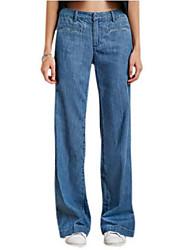 Pantaloni Da donna Jeans Vintage Nylon Media elasticità