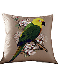 3D Design Print One Parrots Birds Decorative Throw Pillow Case Cushion Cover for Sofa Home Decor Polyester Soft Material