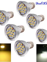 7W E26/E27 Spot LED BA 15 SMD 5630 700 lm Blanc Chaud Blanc Froid Décorative AC 100-240 AC 110-130 AC 85-265 V 6 pièces