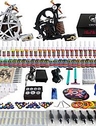 tattoo® Solong kit completo del tatuaje 2 máquinas pro 54 tintas de alimentación agujas del pedal del pie apretones consejos tk230