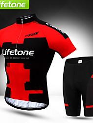 BAT FOX Maillot et Cuissard de Cyclisme Homme Manches courtes Vélo Maillot Shorts Rembourrés Cuissard  / Short Ensemble de Vêtements
