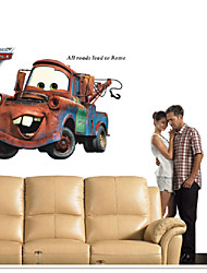 Pixar Cars Mater Children'S Room Wall Lead To Rome Appointment Strickers Wall Decor 3D Wall Stickers Home Decoration