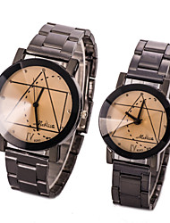 L.WEST Couple's The Geometric Quartz Watch Cool Watches Unique Watches