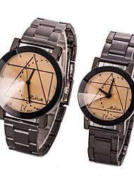 L.WEST Couple's The Geometric Quartz Watch Cool Watches Unique Watches