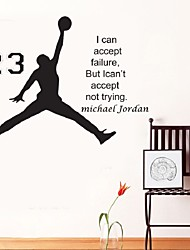 Michael Jordan Basketball Inspirational Wall Sticker Quotes Vinyl Wall Decals Wall Mural Art Kids Children Room Decor