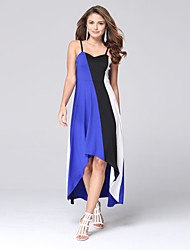 Women's Fashion Casual / Beach / Holiday Straps Sleeveless Chiffon Long Dress