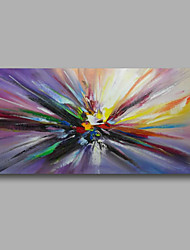 """Ready to hang Stretched Hand-Painted Oil Painting Canvas  40""""x20"""" Wall Art Abstract Modern Purple Blue"""