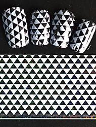 5pcs 20*4cm 2016 New Japanese White  Series Nail Art Stacked Triangle Design  Foils DIY Nail Sticker STZ Jw8