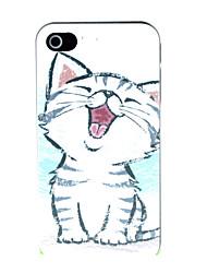 el caso duro del patrón del gato pequeño para el iphone 4 / 4s