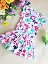 Girls Flower Dress Butterflay Print Sundress Party Casual Baby Kids Clothes Dresses