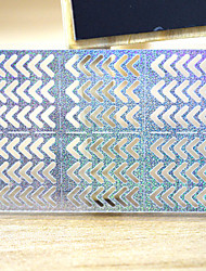 5 Sheets Sliver Metallic Design Shape Nail Art Decal Hollow Sticker 3D Decal Manicure Decoration STZ-K23