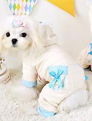 Dog Coat White Winter Solid Fashion / Keep Warm