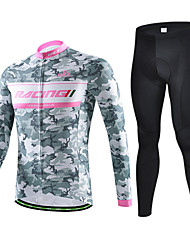 CHEJI Bike/Cycling Jersey / Jersey + Pants/Jersey+Tights / Arm Warmers / Clothing Sets/Suits Men's Long SleeveBreathable / Ultraviolet