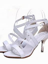 Fashion Women's Shoes Leatherette Stiletto Heel Heels Sandals Office & Career / Dress / Casual