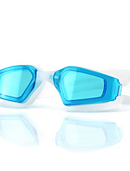 FEIUPE Lunettes de natation Femme / Homme / Unisexe Anti-brouillard / Etanche / Taille ajustable / Anti UV Gel de silice PCNoir / Bleu /