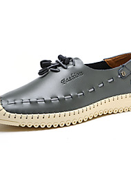 Men's Shoes Office & Career / Party & Evening / Casual Leather Boat Shoes Blue / Brown / Gray