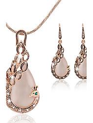 Niedlich / Party / Büro - Damen - Halskette / Ohrring (Rose Gold überzogen / Legierung / Zirkonia)