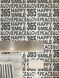 Artistico Carta da parati Contemporaneo Rivestimento pareti , Carta Alphanumeric Simple Wallpaper