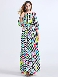 Women's Fashion Casual / Beach / Holiday Floral Maxi Dress