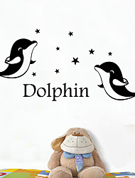 English letters Dolphin Bedroom Living Room Decoration Arts Decals Wall Stickers/Wall sticker For Home Decor Wallpaper