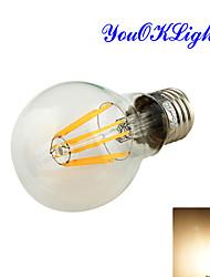 8W E26/E27 Круглые LED лампы A60(A19) 8 COB 750 lm Тёплый белый Декоративная AC 85-265 / AC 220-240 / AC 110-130 V 1 шт.