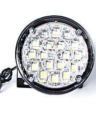 carking ™ universel 18 conduit rond style voiture d'éclairage diurne DRL / lumière-lumière blanche de brouillard (2pcs)
