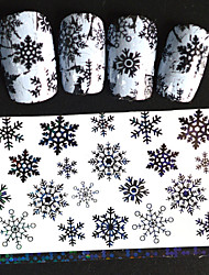 5pcs 20*4cm 2016 New Japanese White  Series Nail Art Beautiful Snowflake Design  Foils DIY Nail Sticker STZ Jw9