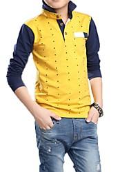 Katoen - Lente - Boy's - T-shirt - Lange mouw