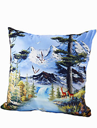 3D Design Print Snow Mountain Decorative Throw Pillow Case Cushion Cover for Sofa Home Decor Polyester Soft Material