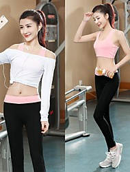 Women's Short Sleeve Running Pants/Trousers/Overtrousers Tank Clothing Sets/Suits Bottoms Tops Breathable Ultra Light Fabric Softness Soft