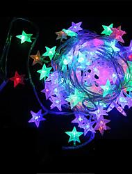 rei ro forma 50led estrela bateria exterior luz da corda à prova de água (kl0009-rgb, branco, branco quente)