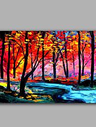 яркий цвет лесной пейзаж маслом ручной хотите популярный дизайн