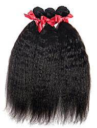 Evap Brinde 100% réellement en vrac Cheveux humains vierges Extrémités droites et droites 3 paquets