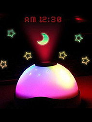 LS4G Hot sales Starry Digital Magic LED Projection Alarm Clock Night Light Color Changing horloge reloj despertador