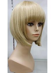 exquisito 100% cabello peluca de cabello humano peluca sin tapa casquillo sin cola naturales cortas pelucas rubias