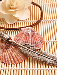 Vilam® Vintage Feather Leather Necklace Copper Necklace Pendant Necklaces Sports 1pc Christmas Gifts