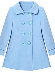 Girl's Jacket & Coat,Wool Winter / Spring / Fall Blue / Red