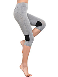 Women Fashion Slim Thin Capri Pants Casual Yoga Fitness Running Solid Color Cotton Blends Legging