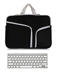 "Handbag for Macbook Air 11"" MacBook Pro 13""/15"" with Retina display Solid Color Textile Material Notebook Sleeve bag with Keyboard Cover"