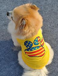 Perros Chaleco Azul / Amarillo Verano / Primavera/Otoño Estrellas / Clásico Moda, Dog Clothes / Dog Clothing-Lovoyager