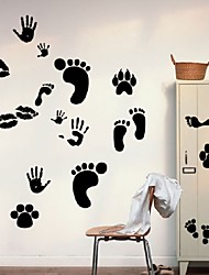 Feet Footprint Removable Wall Sticker Vinyl Decal Floor Art Home Decor