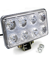 24W Square LED Working Spotlight 8 LED for 12-85V Motorcycle Automobile